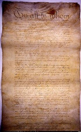Picture of the Articles of Confederation
